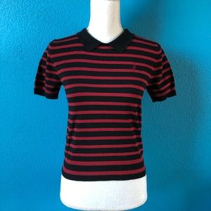 Forever 21 black and red striped sweater